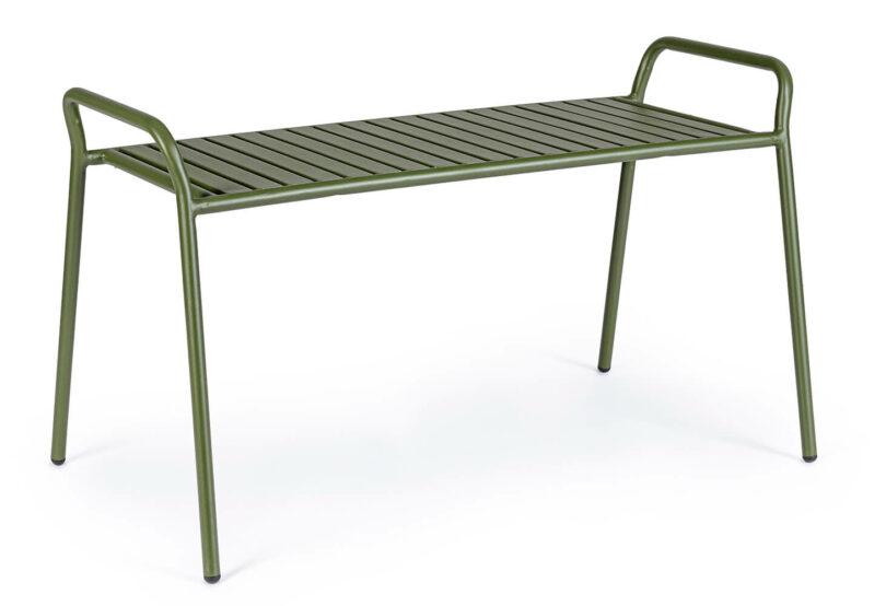 Kovová lavice Dalya zelená