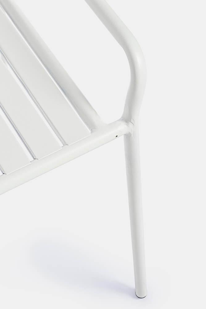 Kovová lavice Dalya bílá