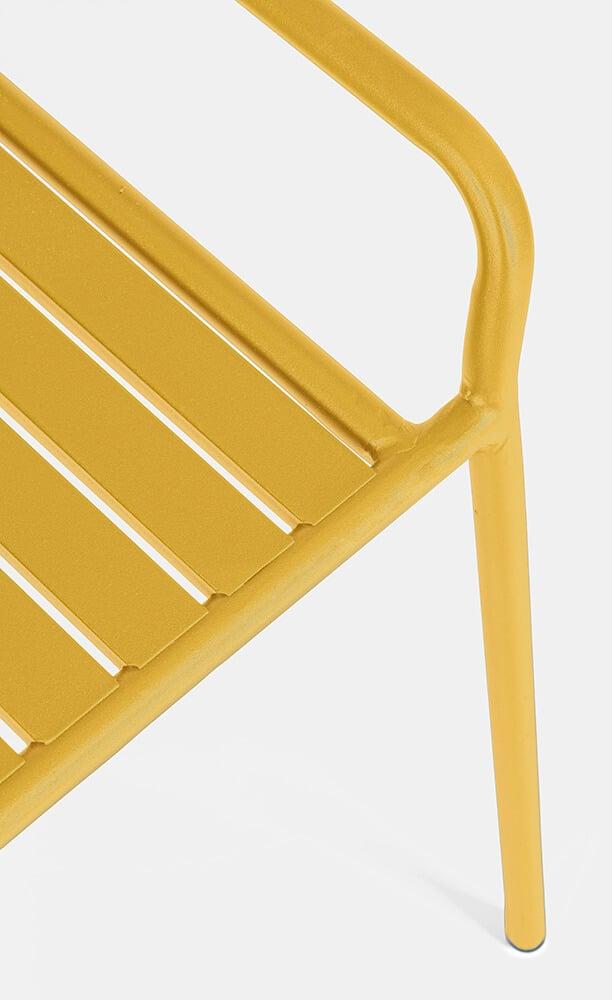 Kovová lavice Dalya žlutá