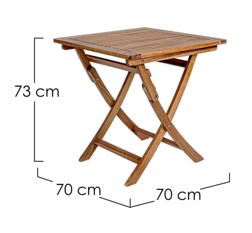 Zahradní stůl Noemi 70 x 70 cm