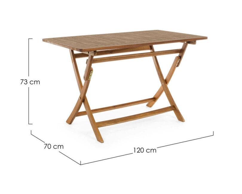 Zahradní stůl Noemi 70 x 120 cm