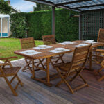 Rozšiřitelný zahradní stůl Noemi 150 - 200 x 90 cm