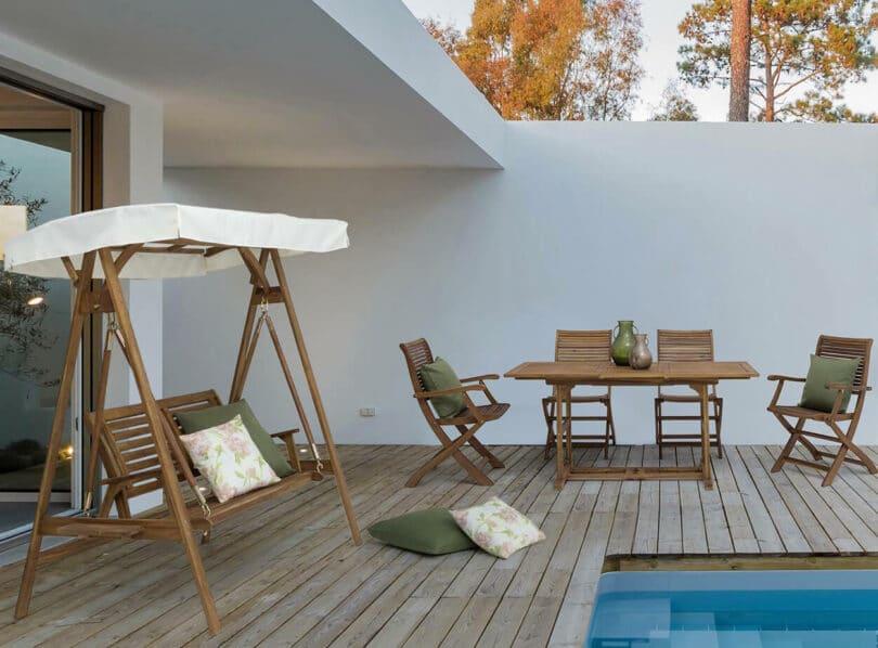Rozšiřitelný zahradní stůl Noemi 120 - 160 x 70 cm