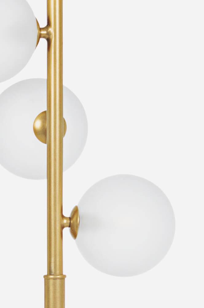 Stojící lampa Balls zlatá
