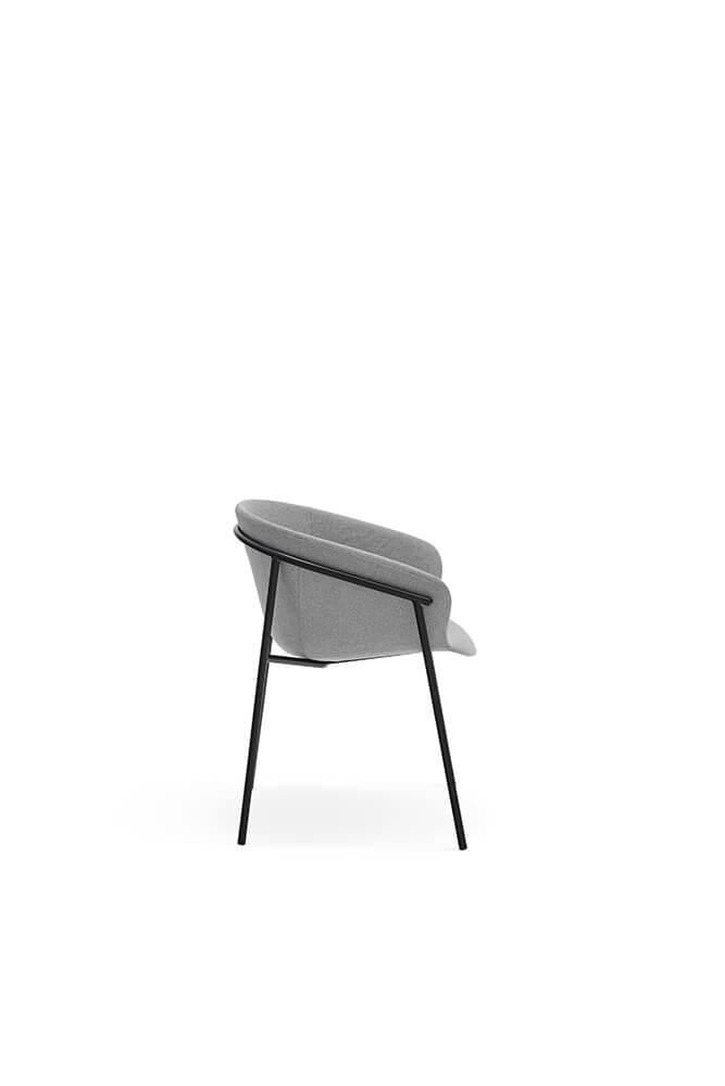 Jídelní židle hug světle šedá