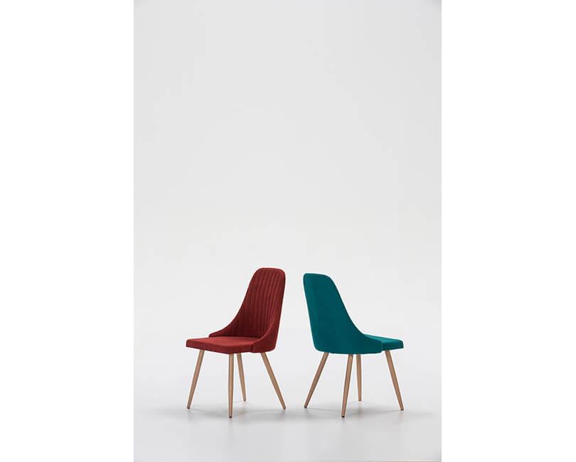 Židle neus bordová 2 ks