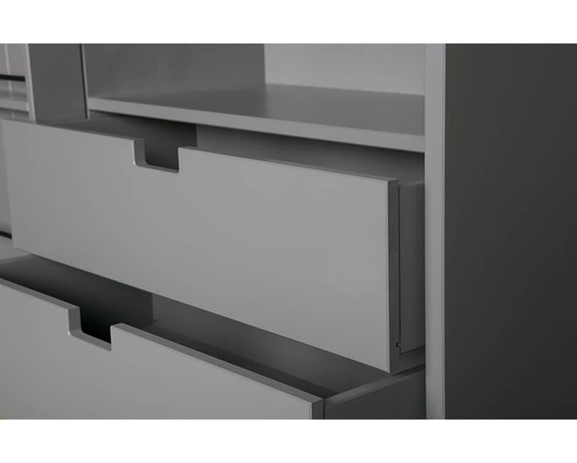 Knihovna s posuvnými dveřmi swing 200 x 150