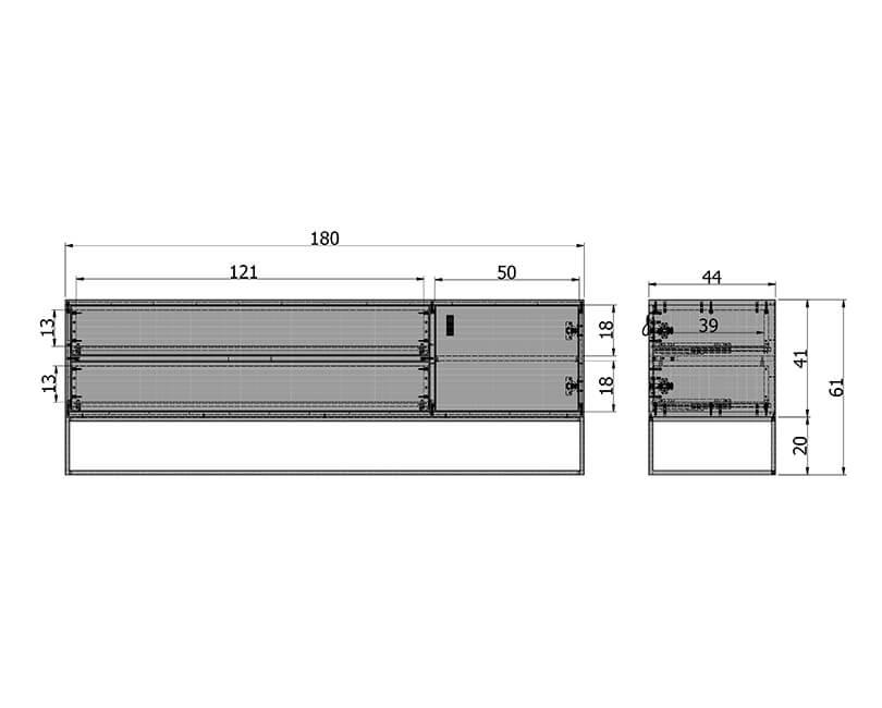 Televizní jednotka silas oak 180 x 44
