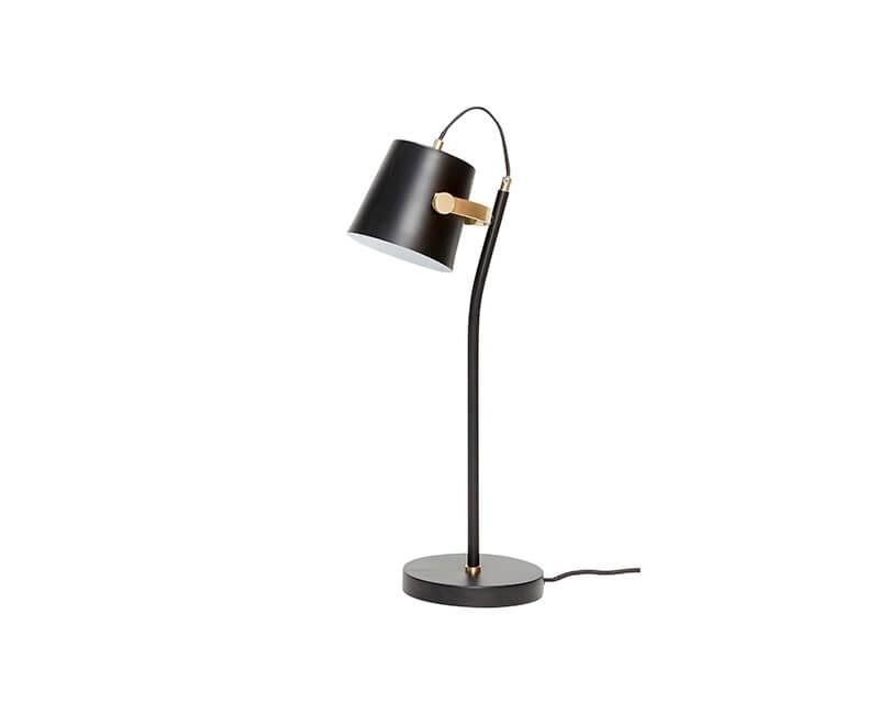 Stolní lampa hübsch black brass