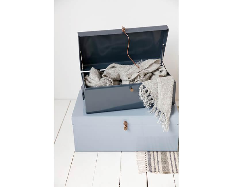 Úložný box suitcase modrý 2ks