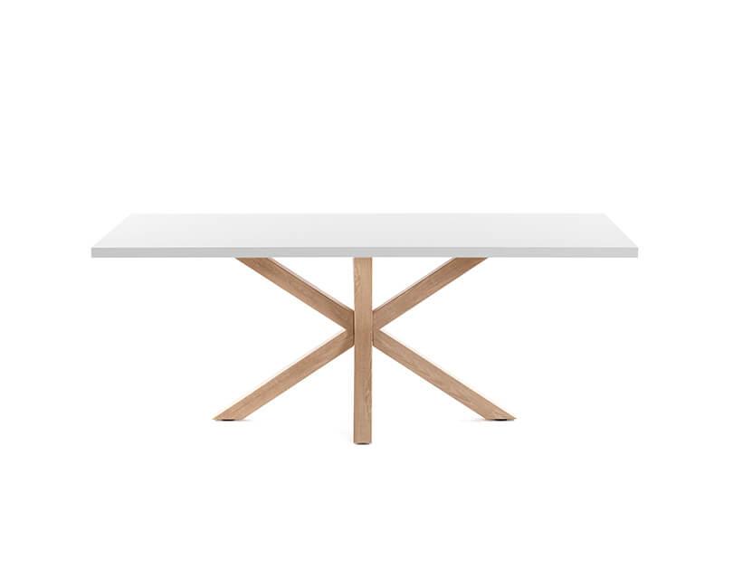 JÍDELNÍ STŮL ARYA TABLE 160 X 100 BÍLÝ, PŘÍRODNÍ