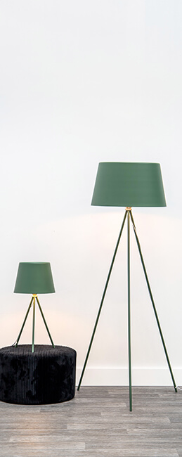 STOLNÍ LAMPA CLASSY ZELENÁ
