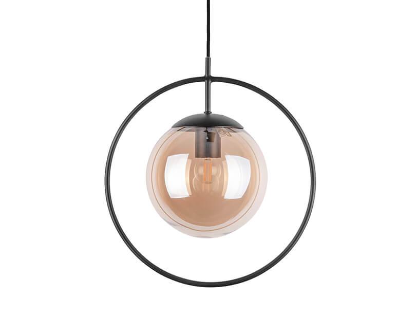 STROPNÍ LAMPA ROUND FRAMED HNĚDÁ