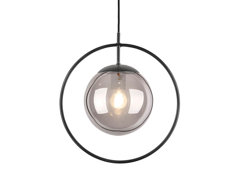 STROPNÍ LAMPA ROUND FRAMED ŠEDÁ