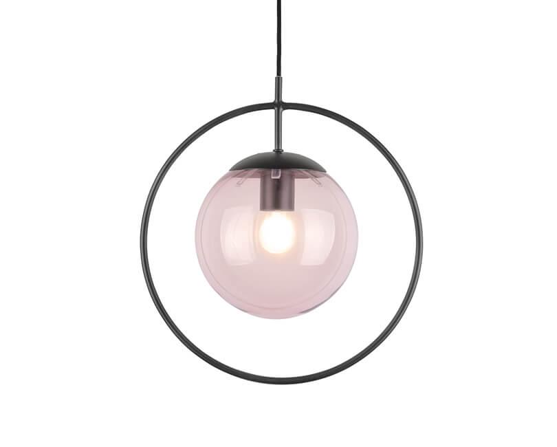 STROPNÍ LAMPA ROUND FRAMED RŮŽOVÁ