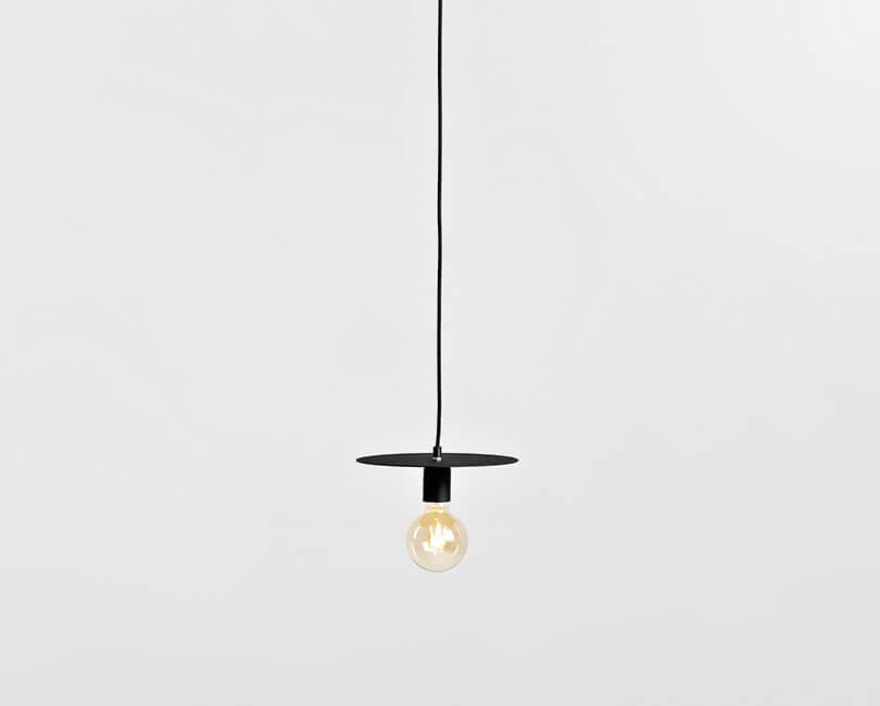STROPNÍ LAMPA SKIVA ČERNÁ M