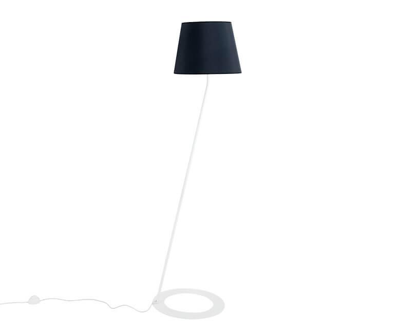 STOJÍCÍ LAMPA SHADE ČERNÁ S BÍLOU NOHOU