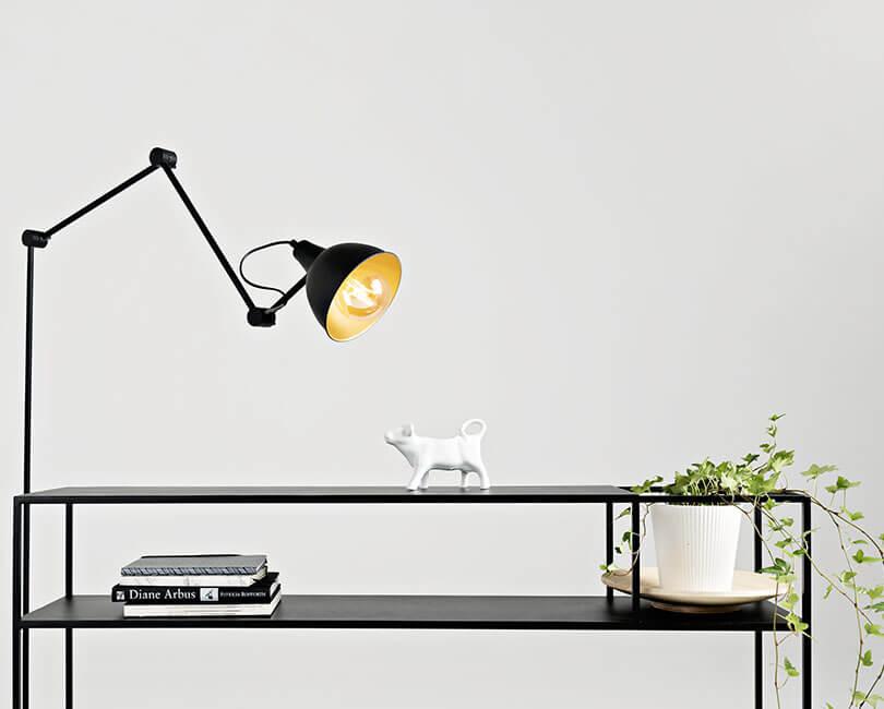 STOJÍCÍ LAMPA COBEN ČERNÁ