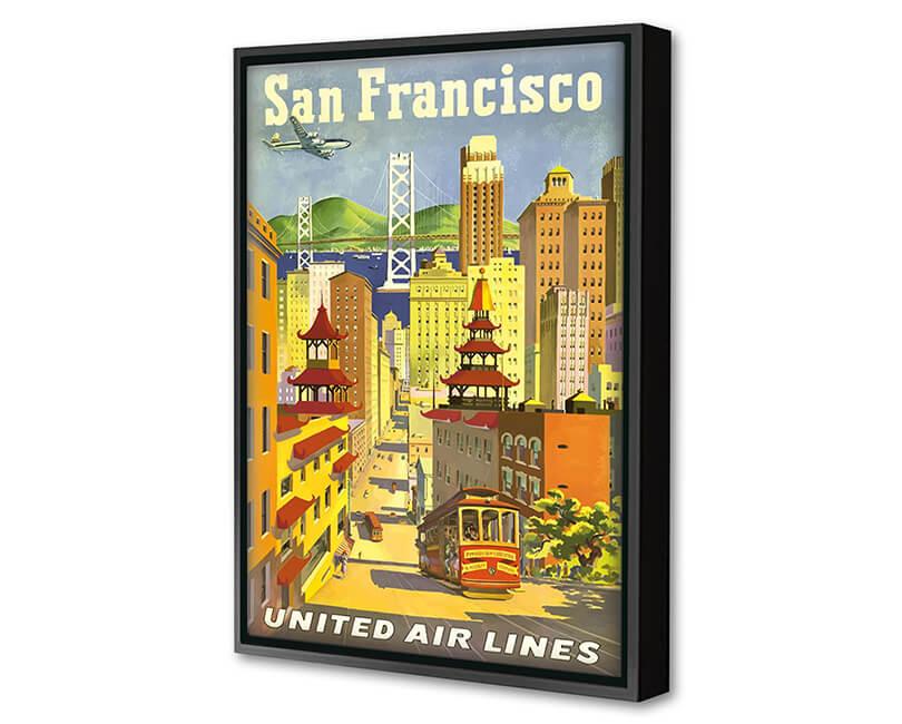 OBRAZ SAN FRANCISCO UNITED AIRLINES