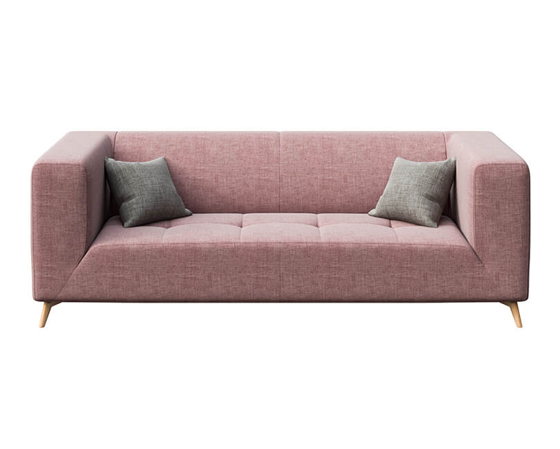 Pohovka třímístná toro růžová