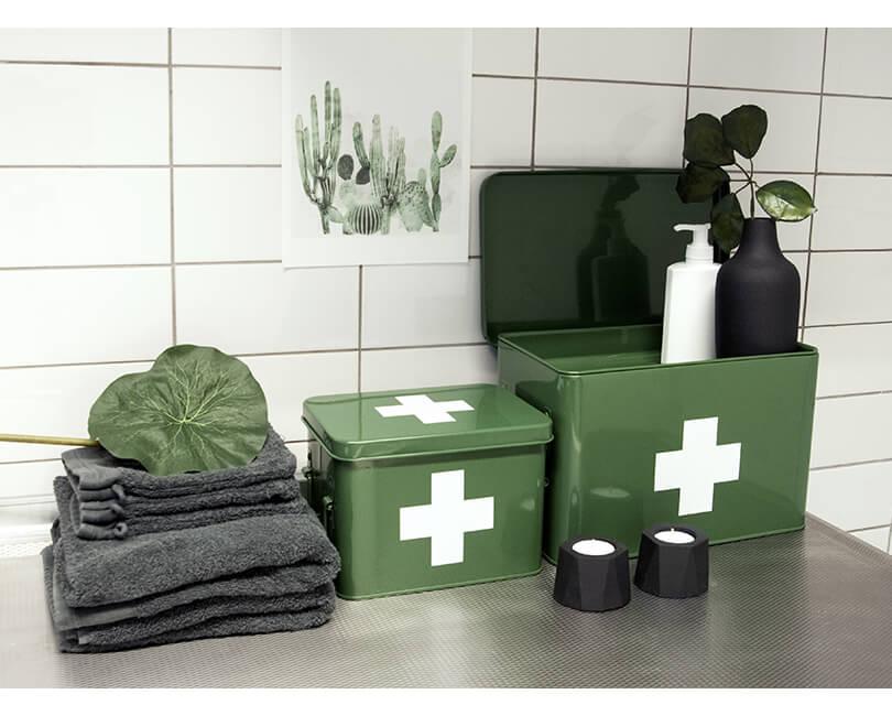 Úložný box present time zelený malý