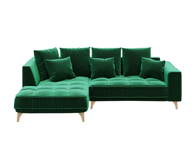 Rohová třímístná pohovka chloe levá zelená