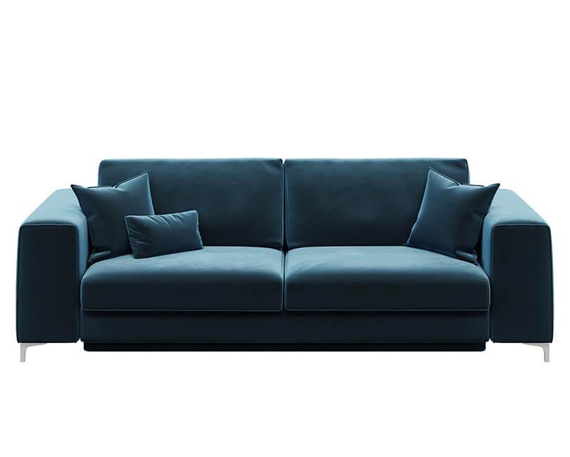 Rozkládací třímístná pohovka rothe modrá