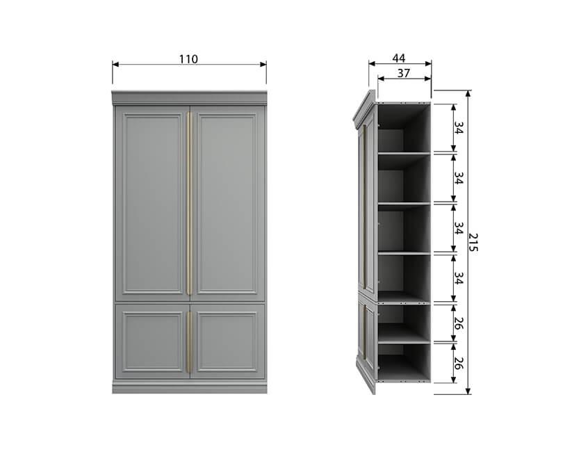 Skříň organize 44 cm