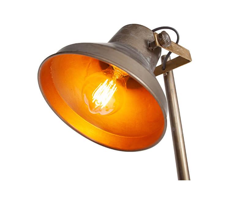 STOJACÍ LAMPA TRIPLET ANTICKÁ MOSAZ