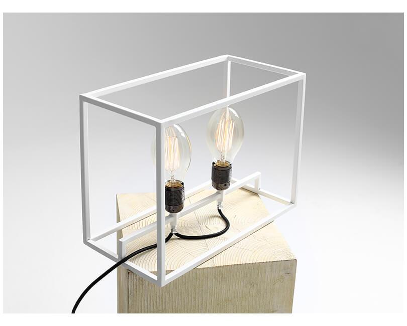 Stolní lampa metric bílá
