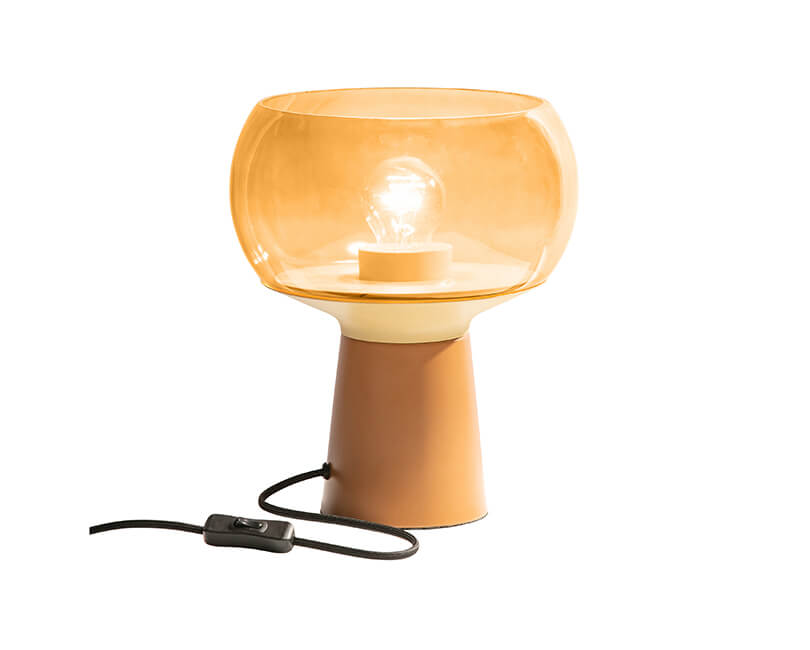 STOLNÍ LAMPA Ø 24 X V 28 CM ORANŽOVÁ