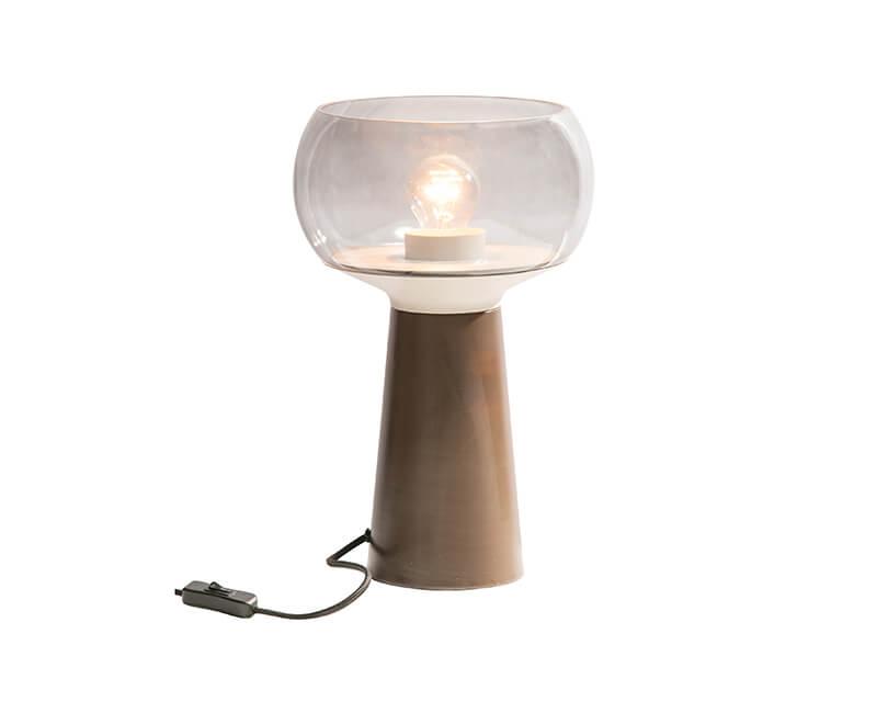 STOLNÍ LAMPA Ø 24 X V 37 CM KÁVOVÁ