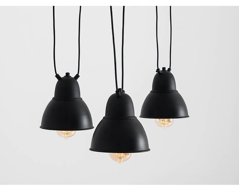 Stropní lampa coben hangman fix 3 černá