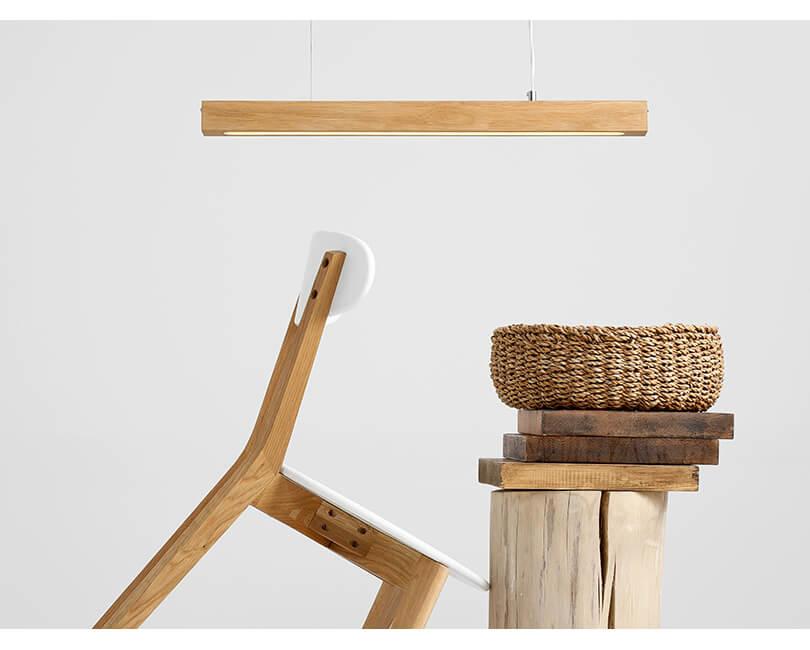 Stropní lampa line plus m wood low dub