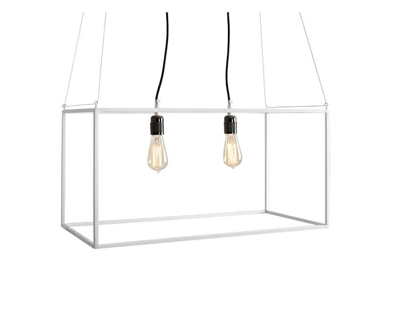 Stropní lampa metric m bílá
