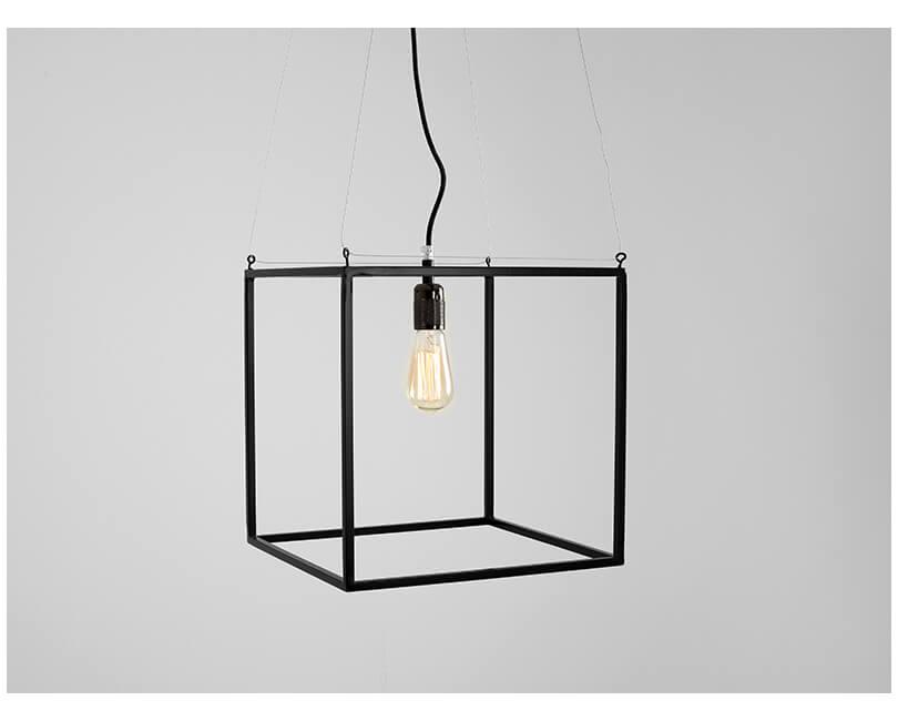 Stropní lampa metric s černá