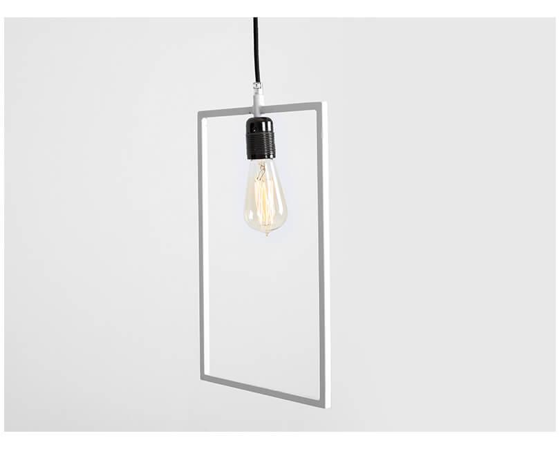 Stropní lampa parot bílá
