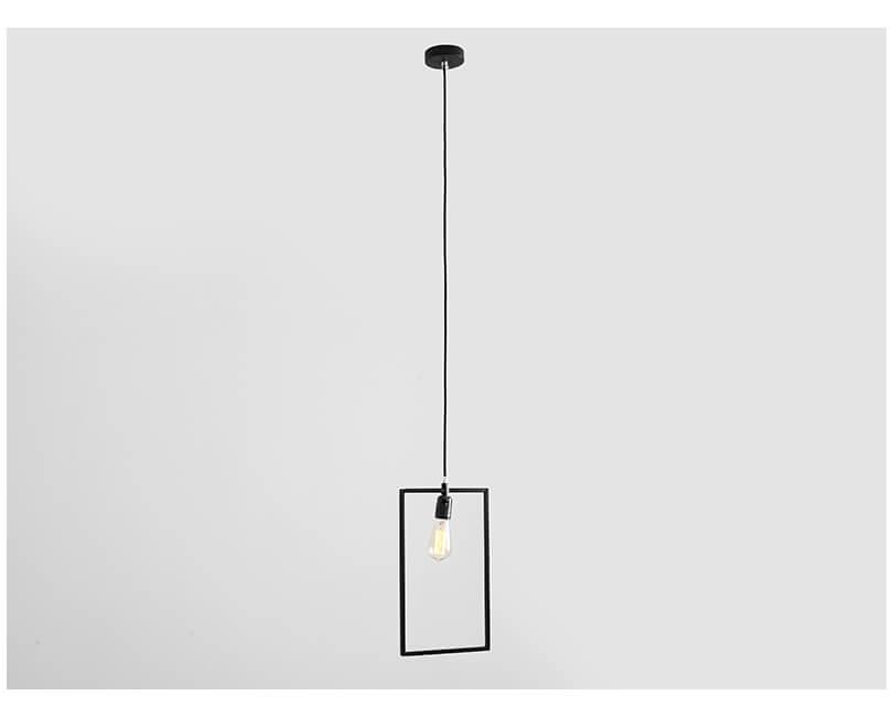 Stropní lampa parot černá