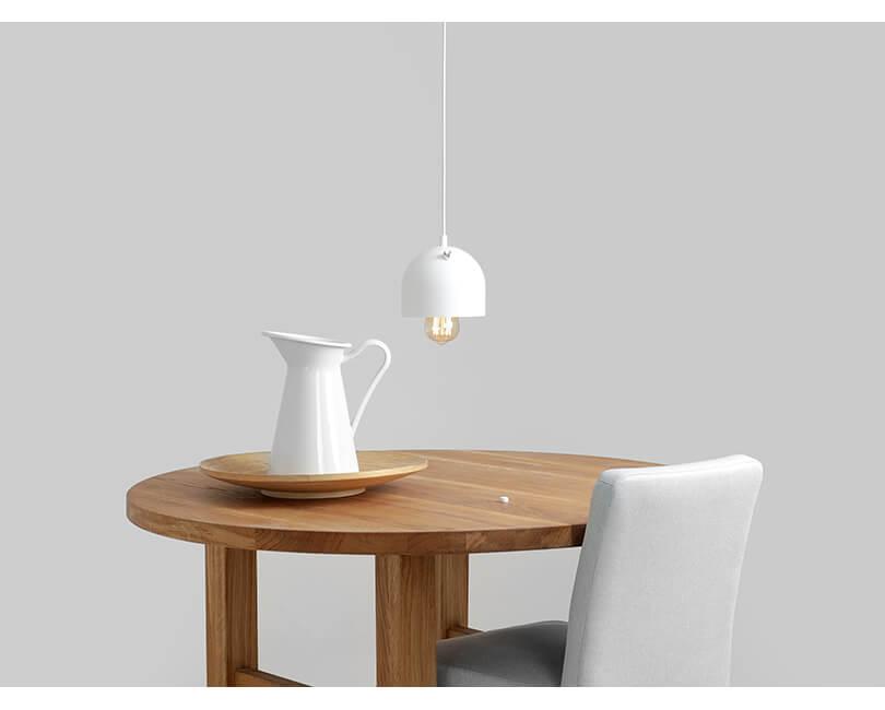 Stropní lampa popo 1 bílá