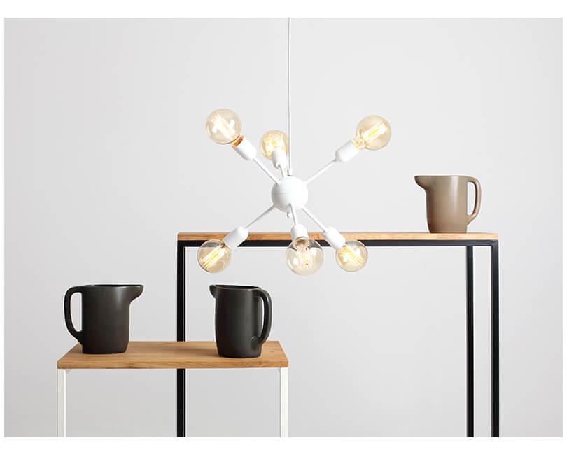 Stropní lampa vanwerk ball bílá