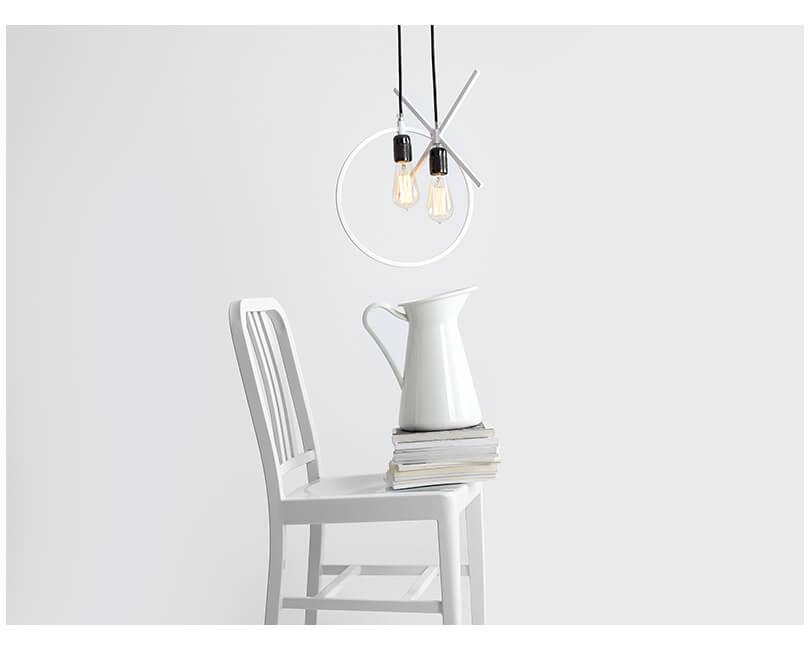 Stropní lampa veto bílá