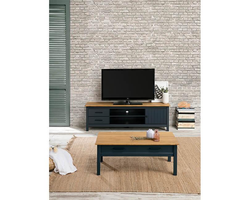 TV SKŘÍŇKA MIRANDA 158 X 40 MODRÁ