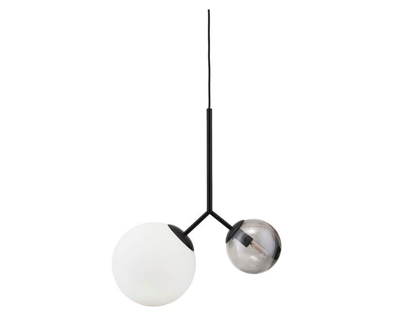 STROPNÍ LAMPA TWICE ČERNÁ