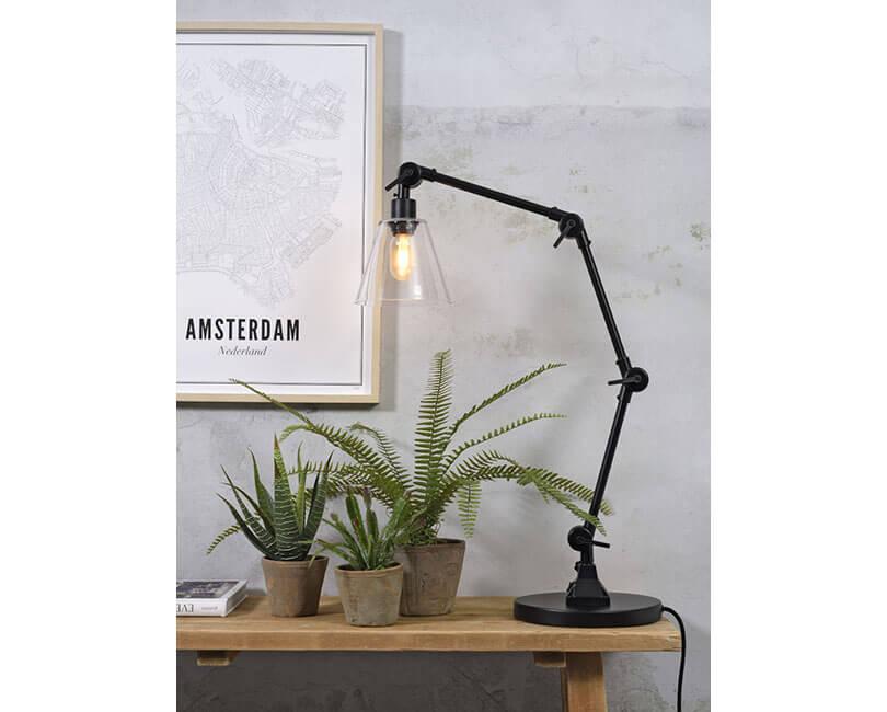 STOLNÍ LAMPA AMSTERDAM GLASS ČERNÁ