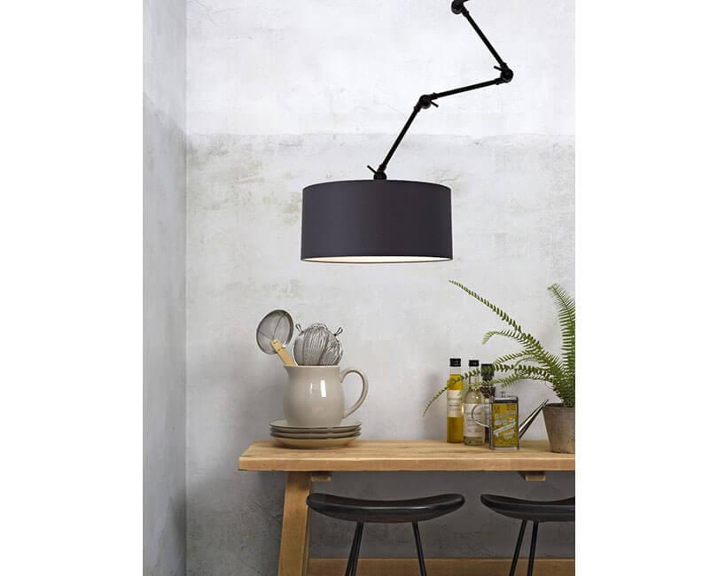 NÁSTĚNNÁ LAMPA AMSTERDAM L ČERNÁ