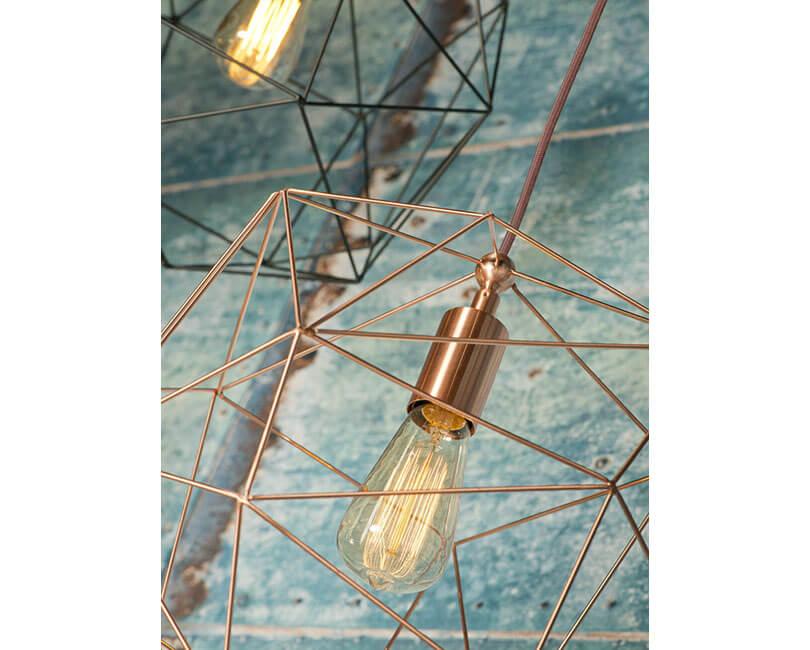STROPNÍ LAMPA COPENHAGEN MĚDĚNÁ