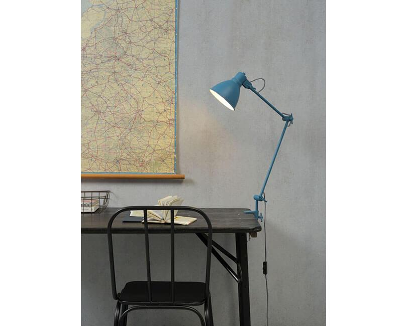 STOLNÍ LAMPA DERBY MODRÁ
