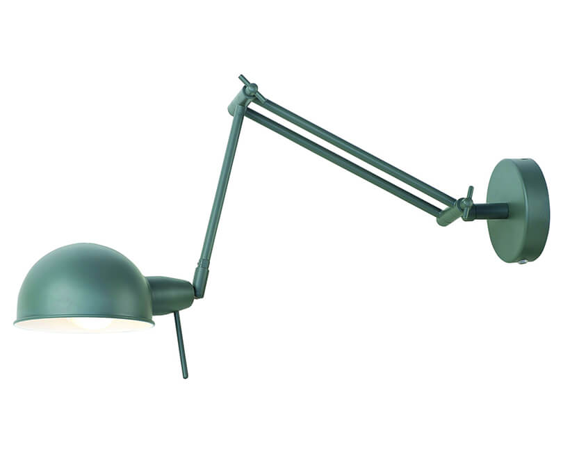 NÁSTĚNNÁ LAMPA GLASGOW ŠEDOZELENÁ