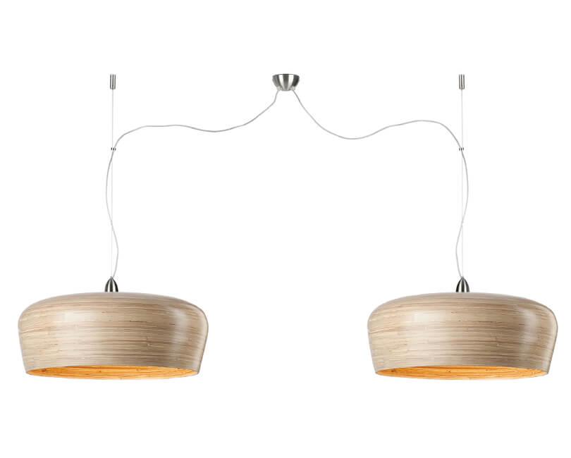 STROPNÍ LAMPA HANOI DVOJITÁ PŘÍRODNÍ