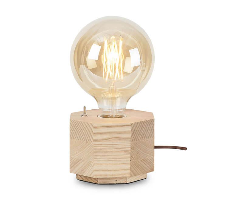 STOLNÍ LAMPA KOBE OSMIÚHELNÍK PŘÍRODNÍ